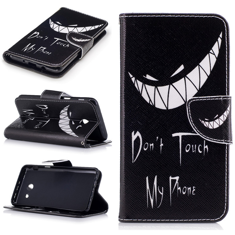 Painted PU Leather <font><b>Cases</b></font> For <font><b>Samsung</b></font> Galaxy J520 <font><b>J5</b></font> <font><b>2017</b></font> Cover <font><b>Flip</b></font> wallet Card Stents holster Feather Butterfly Designer Bags image