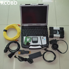 For bmw diagnostic-tool icom next with software ista expert mode 500gb hdd with laptop ram 4g cf30 all cables full set best