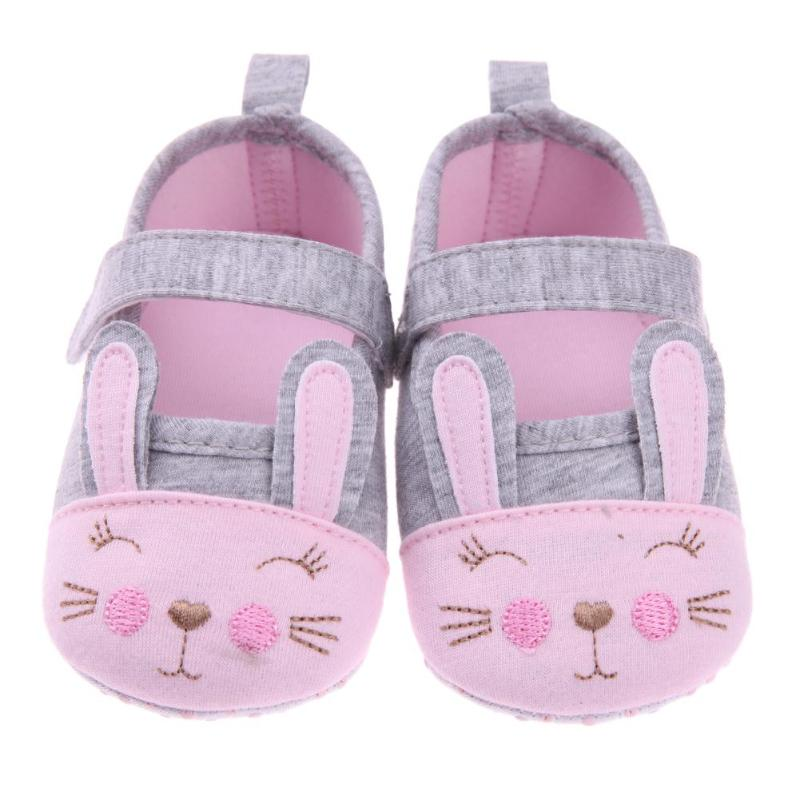 Spring Summer Baby Prewalker Soft Cartoon Rabbit Anti-Skid Toddler Crib Shoes Newborn Shallow First Walkers 11cm 12cm 13cm