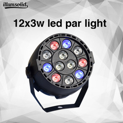 MINI DMX Control RGBW LED Stage Light flat par can Sound Control DJ Stage Effect Light Home Party Disco Club DJ Lights