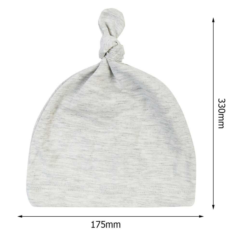 0-24M ฤดูใบไม้ร่วงทารกแรกเกิดเด็กชายหญิงอบอุ่นหมวกเด็กสีทึบ Beanies Knotted Sleep สวมหมวกเด็กอ่อนหมวก Beanie