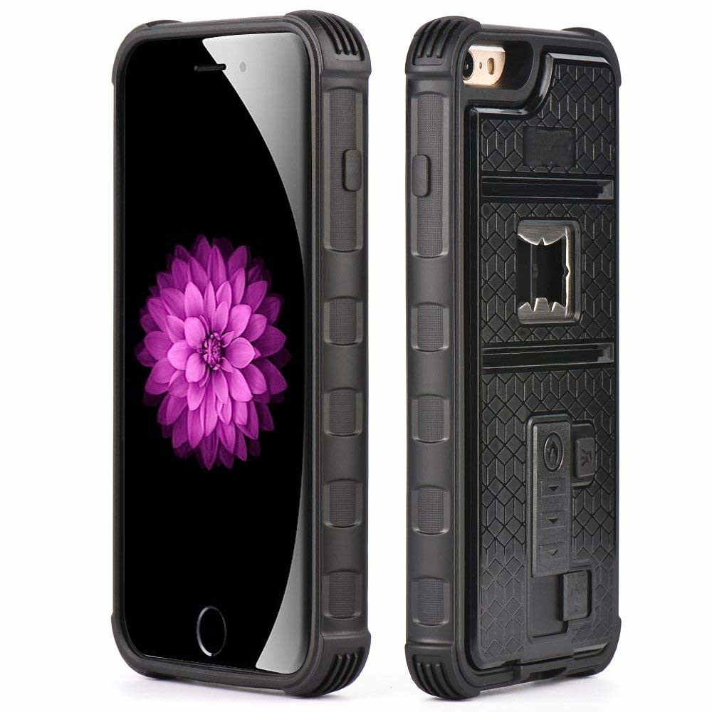 Bumper Heavy Duty Shockproof Multifunctional Iphone Cigarette Lighter Case Builtin Bottle Opener Tripod Interface For Iphone 6/6S/6Plus/6Splus/7/7Plus/8/8Plus/X