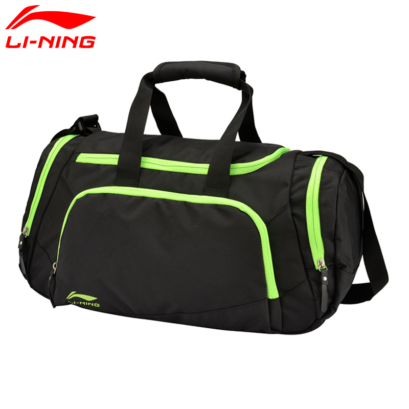 Li Ning Unisex Training Duffel Polyester Classic Leisure Adjustable Shoulder Strap LiNing Sports Bag ABLM006 BJF112