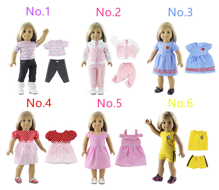 2019 New Style High Quanlity Multiple Style Beautiful Clothes And School Bag For 18 Inch American Doll