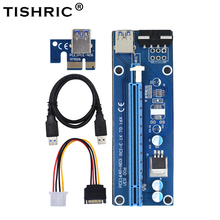 цена на TISHRIC 10Pcs VER006 Pci-e Extender Pci Express Riser Card M2 1x to 16x SATA to 4Pin Molex Usb 3.0 Adapter Cable For Btc Mining
