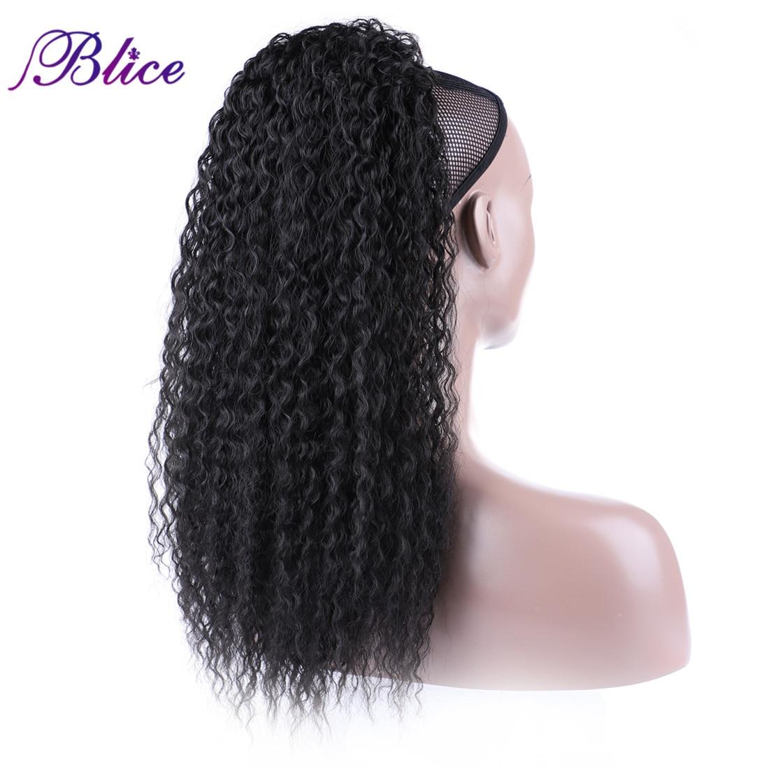 Blice Afro Kinky Curly Cabelo Sintético Rabo de Cavalo 18