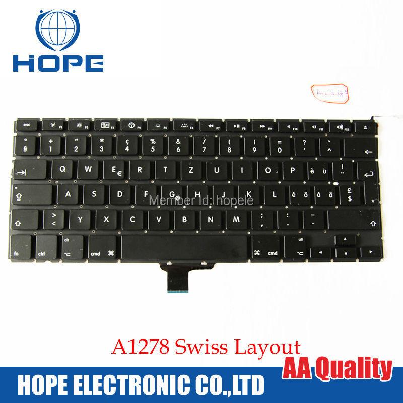 Switzerland Keyboard For Apple Macbook Pro 13'' A1278 Swiss 2009 2010 2011 2012