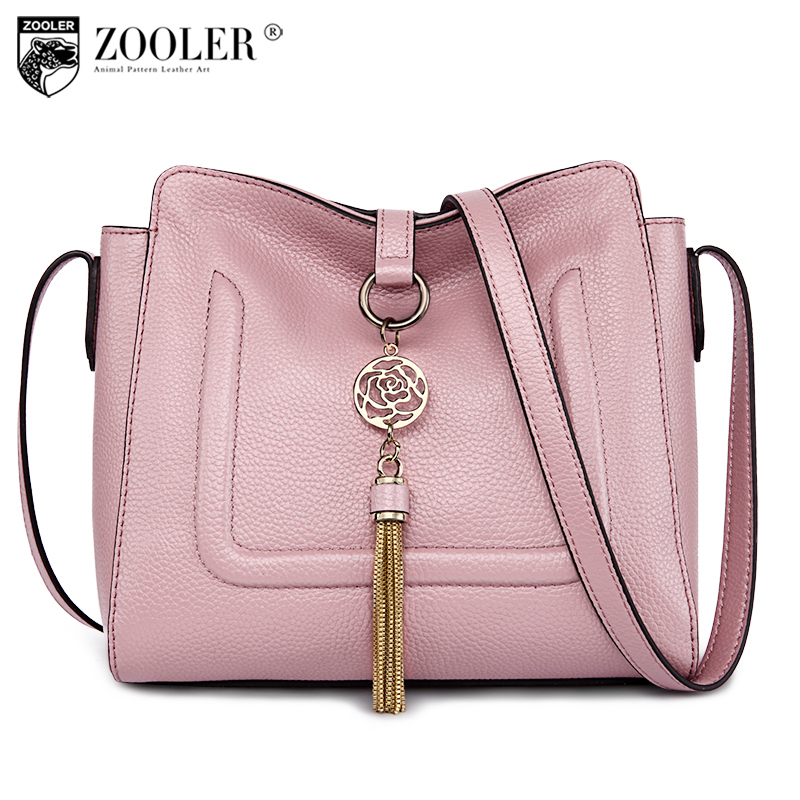 HOT small genuine leather bag ZOOLER for women 2018 Simple fashion shoulder bag cross body bags for women ladies hand bags#C102 chains belt ladies bags for women new design fashion women flap cross body bags korean style spring shoulder bag