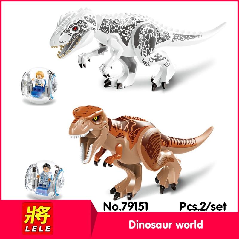 LELE 79151 2Styles Jurassic World Series Tyrannosaurus rex Model Building set Blocks Compatible jurassic world new 1pc jurassic world park tyrannosaurus rex dinosaur plastic toy model kids gifts