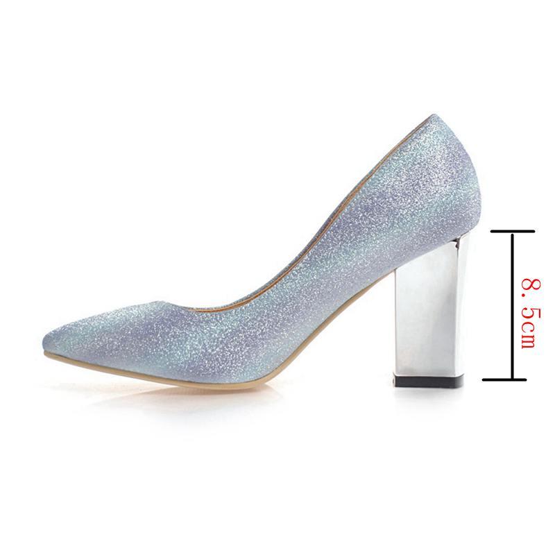 Pointu De Noce À pink Femmes purple Mujer Talons C531 Bling Slip sur Bout Zapatos Blue Hauts Dames Pompes Asileto Chaussures qIPwxnUE6E
