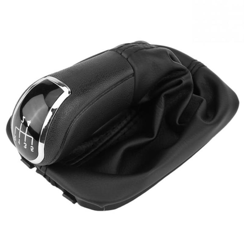 5 скоростей Ручка переключения передач рычаг Гетры Загрузки Крышка из искусственной кожи для Skoda Fabia Mk1 6Y0711113H