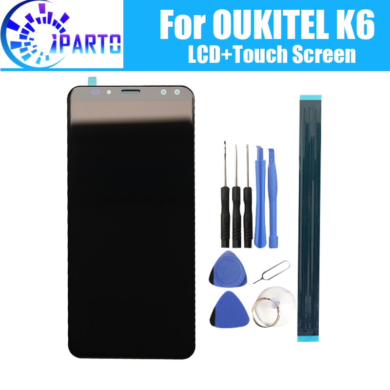 5.99 inch OUKITEL K6 LCD Display+Touch Screen 100% Original Tested LCD Digitizer Glass Panel Replacement For OUKITEL K6