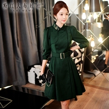 dabuwawa coat long autumn new korean fashion diamond turn down collar temperament waist slim trench coat women pink doll