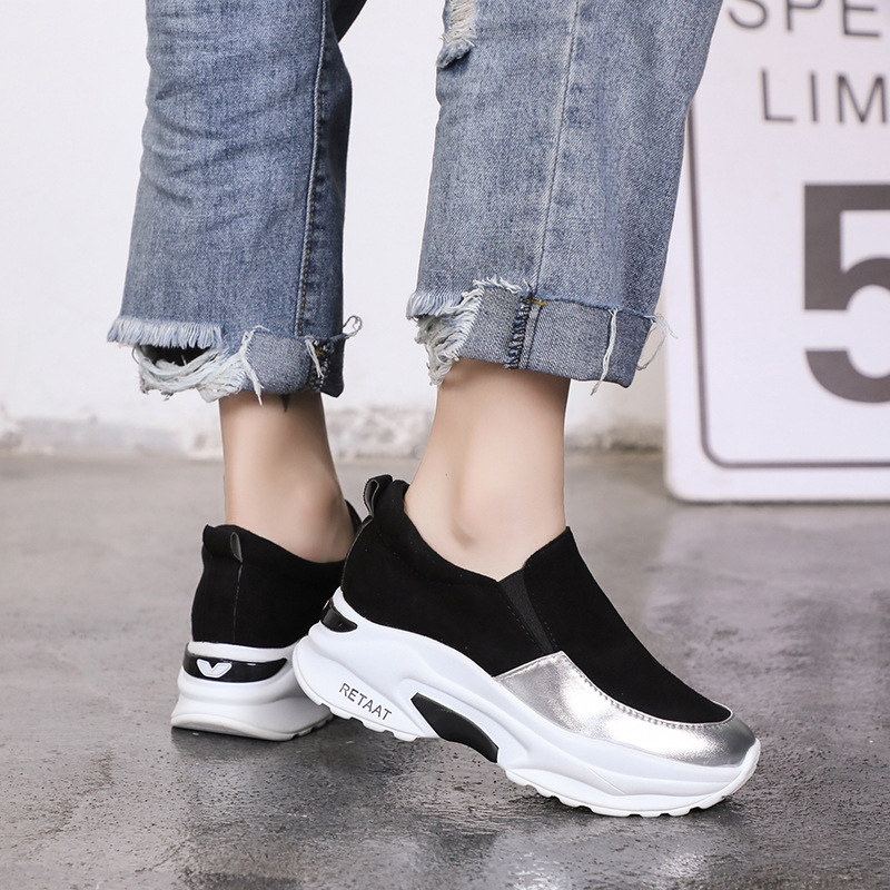 DORATASIA New Height Increasing Mixed Colors Round Toe Flat Platform Shoes Woman Casual Soft Spring Autumn Flats Big Size 35-40 4