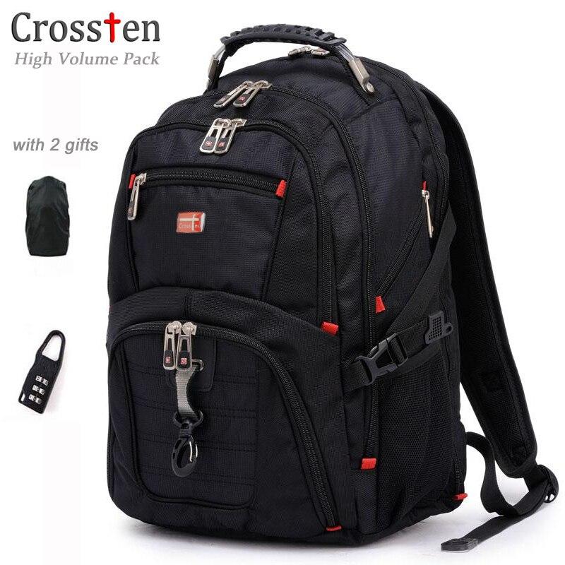 Crossten Top quality Multifunctional Waterproof Laptop Backpack for 17 laptop Versatile Schoolbag Large Capacity Travel Bag