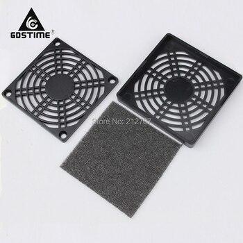 100Pcs Gdstime 80mm Fan Dustproof Cover Computer Case Mesh 8cm PC Dust Filter Black
