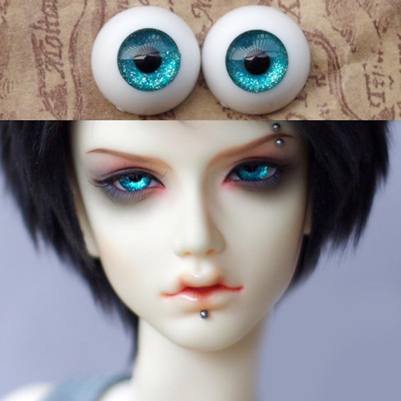 Nice 18mm no pupil SKyBlue Glass Eyes for Joint Reborn//NewBorn BJD Dollfie