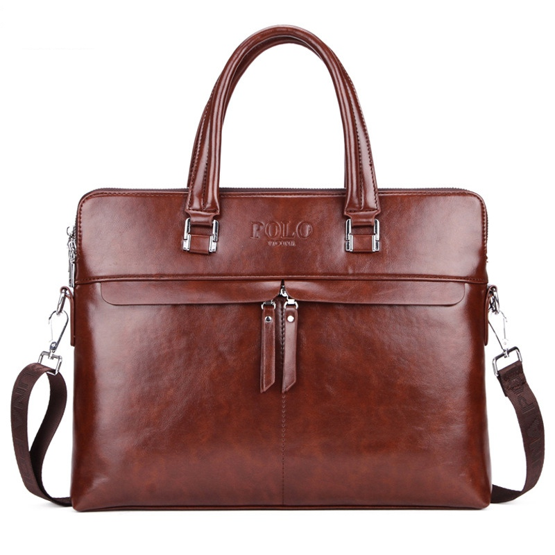 Men Business Briefcase PU Leather Shoulder Bags For Men New Design 15 Inch Laptop Bag Large Capacity Travel Bags Handbag WBS439