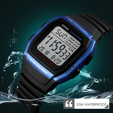 лучшая цена SKMEI Luxury Brand Men Analog Digital Sports Watches Men's Army Military Watch Man Electronic Clock Relogio Masculino 1278