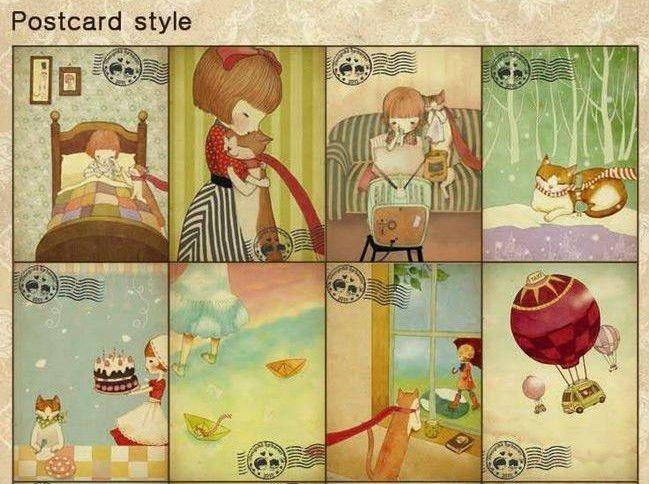 Inseparable illustration style postcard set vintage greeting cards inseparable illustration style postcard set vintage greeting cards gift cards vintage korean stationery wholesale on aliexpress alibaba group m4hsunfo