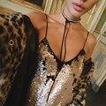Simples accesorios de la joyería más nueva manera bohemia diy terciopelo con cristal largo choker collar para los amantes de los pares n204