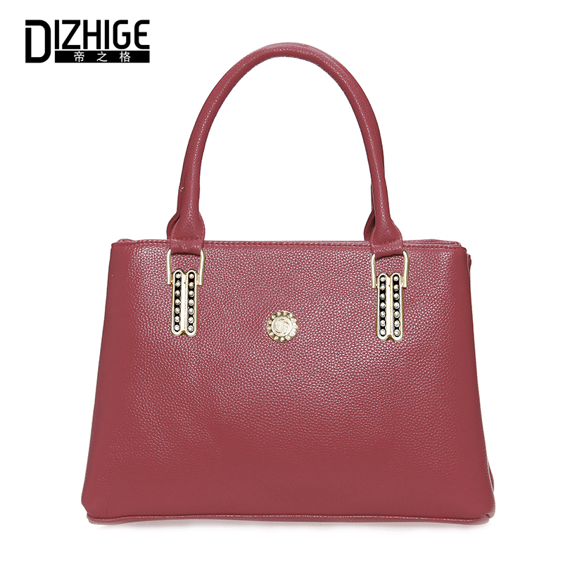 DIZHIGE Luxury Handbag Women Bags Designer Handbags High Quality Leather Tote Bag Ladies Hand Bag Woman Top-handle Famous Brand 2017 women handbags ladies leather commuter office tote bag high quality women bag