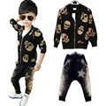 Baby boy clothes Fashion Skull Heads cartoon kids clothes 2015 brand Winter autumn boys clothing sets sport suit kids tracksuit