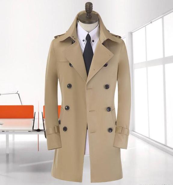Spike! 9XL 8XL große Größe Frühling lange schwarze Trenchcoat - Herrenbekleidung - Foto 2