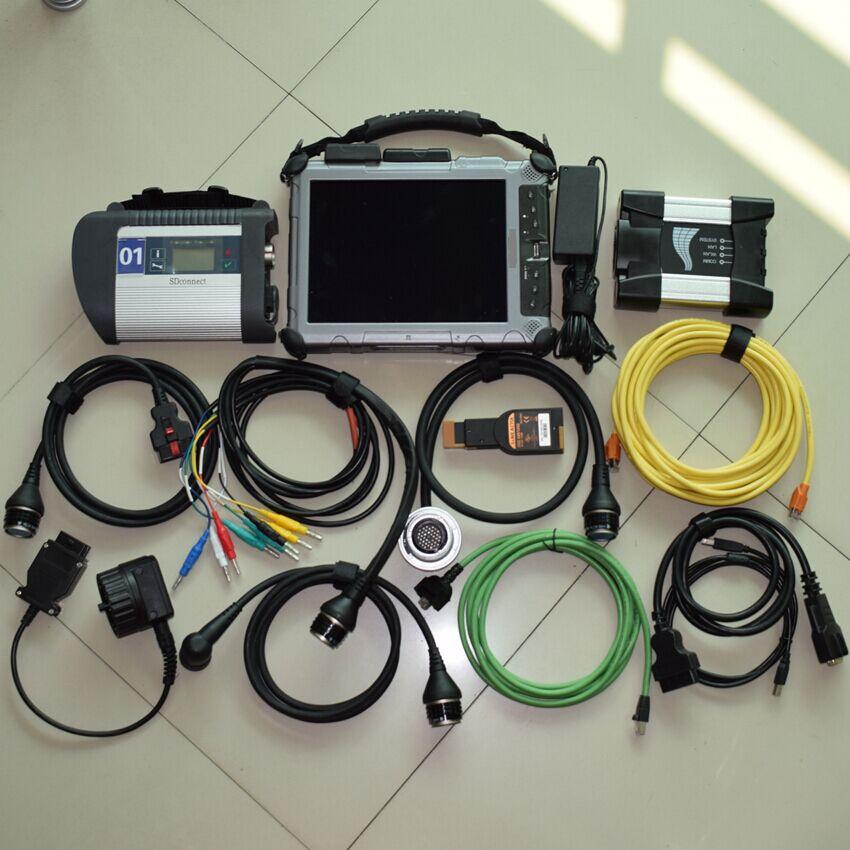 Pour BMW ICOM suivant outil de Diagnostic + MB STAR C4 SD Connect + 2 mini ssd pour bwm pour logiciel benz + tablette IXplore IX104 robuste
