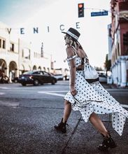 2018 vestidos 自画像ドレス 夏デザイナースタープリントストラップレス不規則なホワイトロングドレスカジュアル