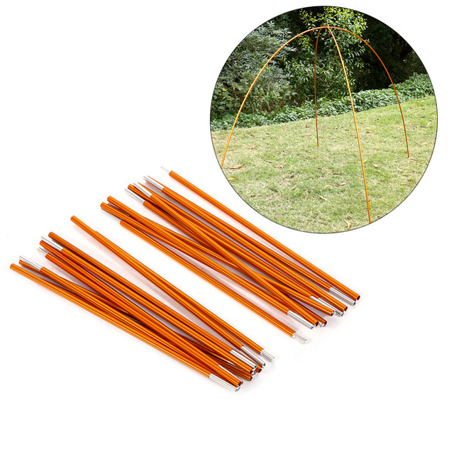2pcs/set Camping Aluminium Alloy Tent Rod Pole Tent Spare Replacement Building Supporting Rod Kit Pole For Hiking Outdoor Tools
