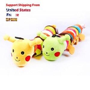Забавные игрушки для собак долговечные плюшевые гусеницы форма Писк игрушки для щенка, домашних животных звук жевания игрушки для чихуахуа...