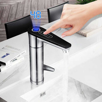 EU UK Plug Electric Heating Water Faucet 3 Seconds Instant Tankless Water Tap Touch Tone 3000W Banheiro Water Grifo Electrico