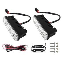 цены Waterproof Car High Power Aluminum LED Daytime Running Lights with Lens DC 12V Super White 6000K DRL Fog Lamps