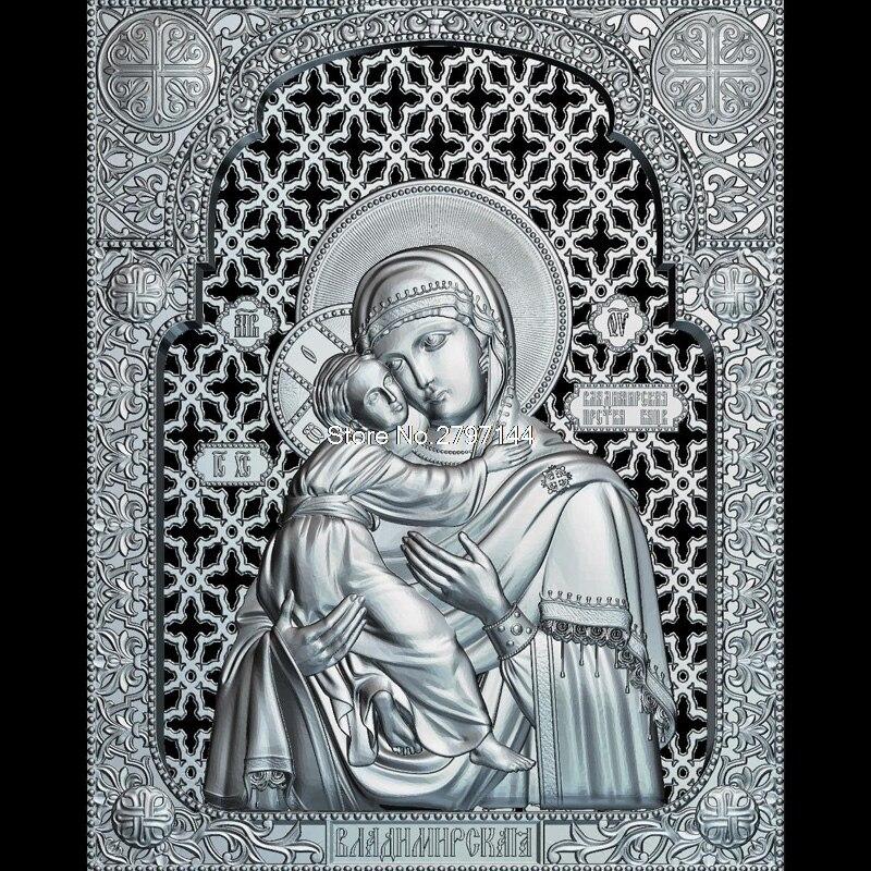 High Quality New 3D Model For Cnc FecioaraMaria_cu_Pruncul 3D Carved Figure Sculpture Machine In STL File Religion