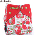 [simfamily] Reusable Waterproof Bamboo Charcoal One Size Pocket Cloth Diaper,Double Gussets,Color Snap,Wholesale Selling
