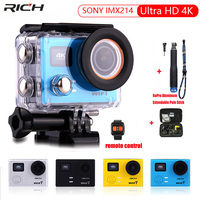 New Action Camera Ultra HD 4K 1080p 60fps 12MP WiFi IMX214 Built in Gyro 170 d wide angle remote control Extreme Sports camera