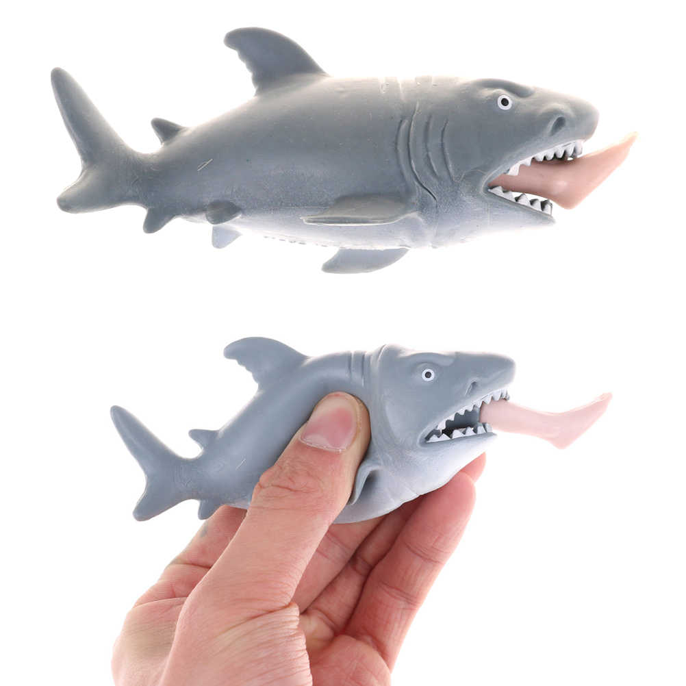 2019 Nieuwe Mini Simulatie Animal Shark Eten Een Man In Voorraad Beeldje Pop Action Figure Model Kids Toy