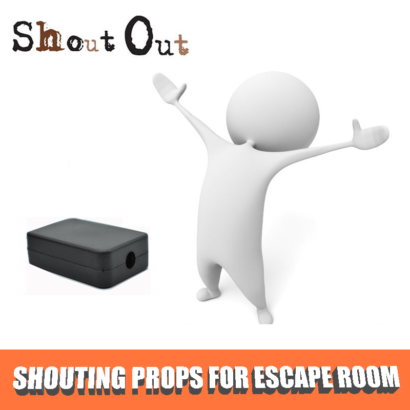 Escape Room the Game Props Shouting Out to light up LED rell Control 12V Magenet Lock for Exit Game Owner escape room props hold hands as bridge to unlock support 1 5 people exit game to control 12v em lock