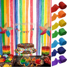 5cm*10m Crepe Paper Streamers DIY Garland Photography Backdrops For Wedding Birthday Party Baby Shower Venue Decoration