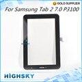 1 peça frete grátis para samsung galaxy tab2 7.0 p3100 toque de vidro tela digitador lcd com cabo flexível de peças de reposição