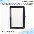 1 piece free shipping for Samsung GALAXY Tab2 7.0 P3100 touch digitizer lcd screen glass with flex cable replacement parts