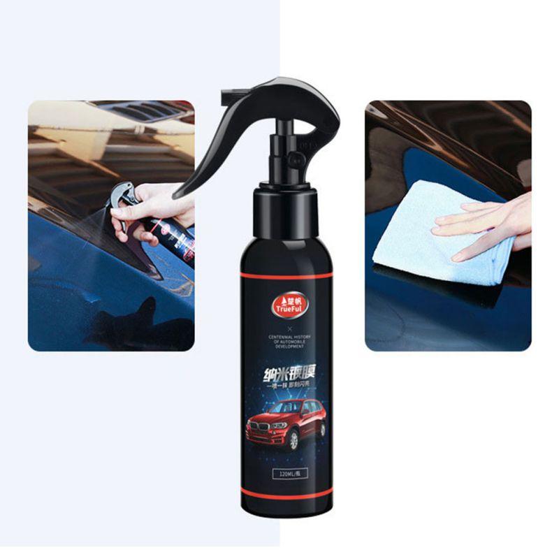 Car Nano Coating Polishing Spraying Wax Painted Car Care Nano Hydrophobic Coating Rag Automobile Coating Agent Brush(China)