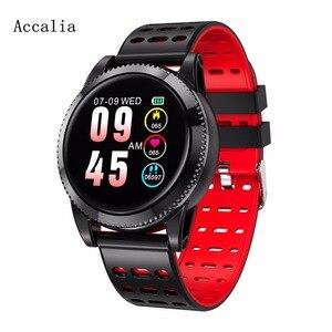 Image 2 - Accalia ساعة ذكية مراقب معدل ضربات القلب للماء الرياضة ووتش سوار ذكي جهاز تعقب للياقة البدنية الذكية الفرقة
