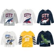 CALOFE, брендовые Детские футболки с длинными рукавами для мальчиков, хлопковая Детская рубашка с рисунком, топы, одежда для мальчиков