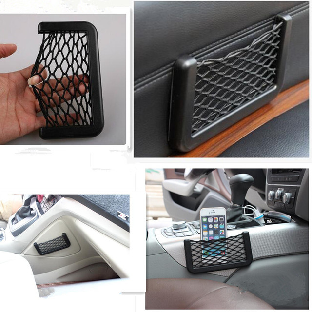 Universal car seat side back storage net bag FOR fiat stilo toyota verso audi a6 c6 vw caddy ford kuga peugeot 5008 2017 astra h