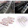 4 pcs Aço Inoxidável apoio de Braço Da Porta Interior Do Carro Painel Interruptor de Elevador Janela Tampa Moulding Etiqueta Fit para 2013-15 Chevrolet Trax