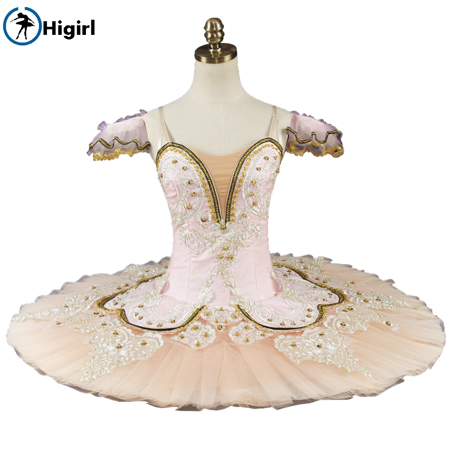 Adult women Performance Tutu ballet pancake costumes nutracker ballet tutu Peach Fairy professional ballet tutu pink BT9044B