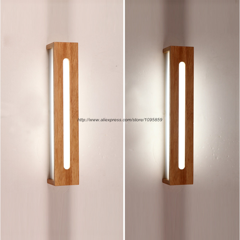 modern sconce lighting. aliexpresscom buy wooden led wall lamp light modern sconce fixtures lighting mirror lights l 45cm55cm from reliable wood suppliers on september e