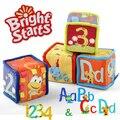 Многофункциональный образовательный colorful ткань коробка блок кольцо бумага младенческой новорожденных младенцы плюш погремушка игрушка подарок 1 пк